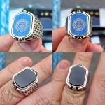 925 Ayar Gümüş Fenerbahçe Arması Erkek Yüzük