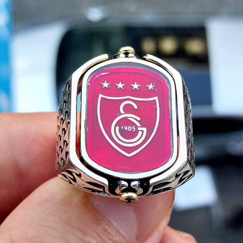 925 Ayar Gümüş Galatasaray Arması Erkek Yüzük