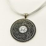 Kişiye Özel Ayet-el Kürsi Yazılı Gümüş Madalyon Kolye