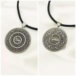 Kişiye Özel İsimli Çift Taraflı Gümüş Madalyon Kolye