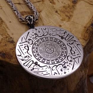 Kişiye Özel İsimli Gümüş Madalyon Kolye