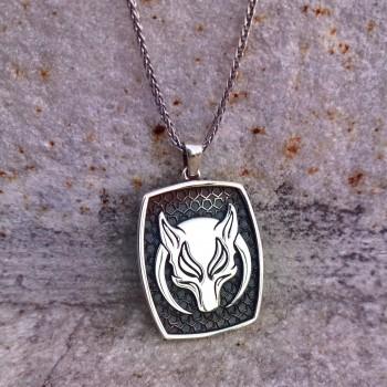 925 Ayar Gümüş Börü Dizisi Gümüş Kolyesi