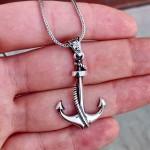 Denizci Çapası Erkek Gümüş Kolye