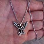 925 Ayar Gümüş Kartal Erkek Kolye ve 55 cm Zincir