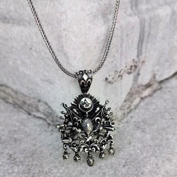 Osmanlı Arması Erkek Gümüş Kolye