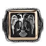 925 Ayar Gümüş Selçuklu Kartalı Erkek Yüzük