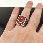925 Ayar Gümüş Teşkilat Dizi Yüzüğü