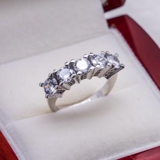 925 Ayar Gümüş Beştaş Bayan Yüzük Model 1