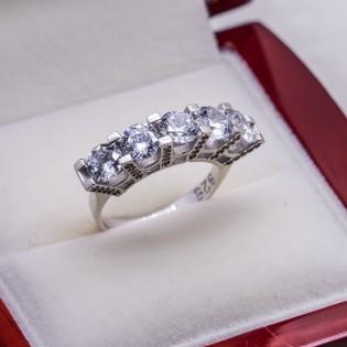 925 Ayar Gümüş Beştaş Bayan  Yüzük Model 6