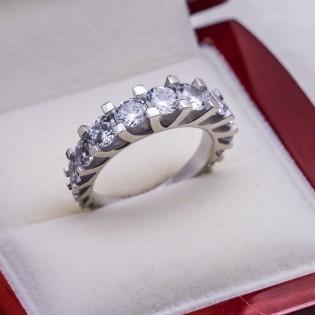 925 Ayar Gümüş Beştaş Bayan Yüzük Model 10