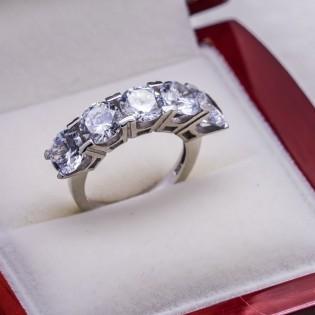 925 Ayar Gümüş Beştaş Bayan Yüzük Model 18