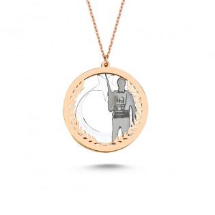 3 Parça Asker Ay Yıldız Gümüş Kolye