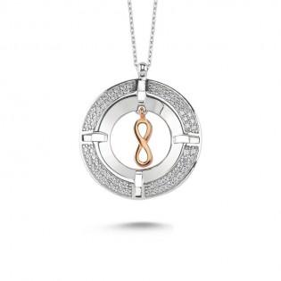 Madalyon Sonsuzluk Gümüş Kolye