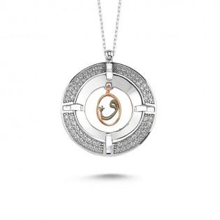 Madalyon Vav Gümüş Kolye