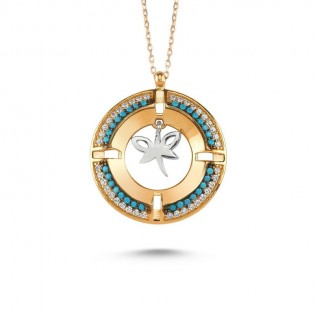 Madalyon Yusufçuk Gümüş Kolye